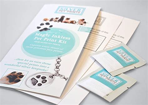 silver pet prints magic inkless pet print kit amazonco