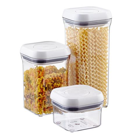"Set Of Oxo Good Grips 4"" Square Pop Canisters The"