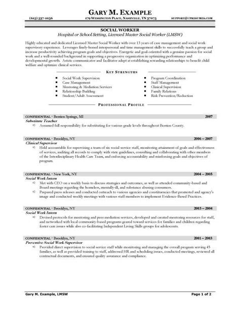 Cv Templates And Exles by Cv Template Social Work Cvtemplate Social Template