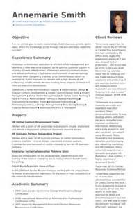 hr admin executive resume hr assistant cv beispiel visualcv lebenslauf muster datenbank