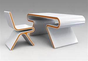 Futuristic furniture ultramodern desk chair design set for Chair desk design