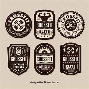Black and white crossfit lable collection Vector   Free ...