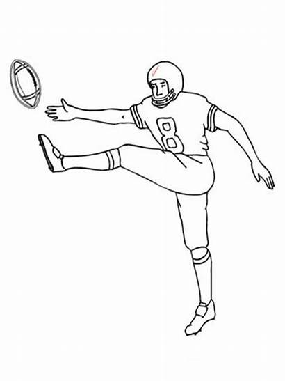 Football Coloring Pages Player Printable Boys Bright