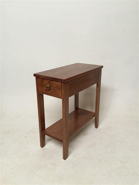 chair side tables oak solid oak chair side table w drawer the oak