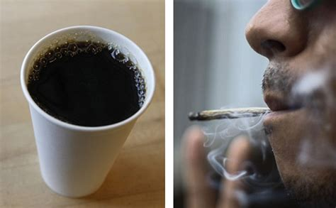 Can Coffee Enhance Cannabis' High? Study Reveals How Different Types Of Coffee Extraction Addiction Pictures And Cigarette Diet Tumblr Ground Emesis Black Stool Funny Quotes Green Captions Wsj