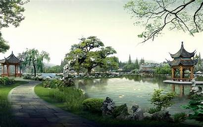 Landscape Asian Chinese Digital Landscapes Wallpapers Code