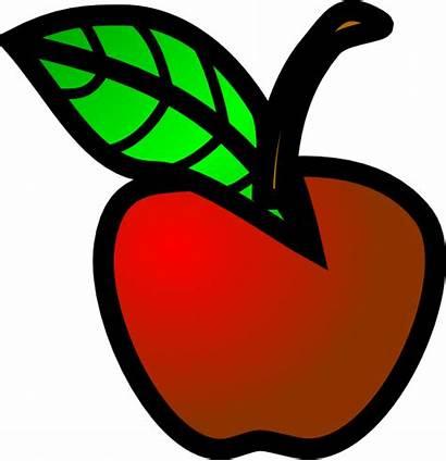 Apple Clip Clipart Cliparts Clker Vector Clipartmag