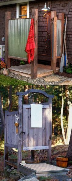 plans to build an outdoor bathroom free outdoor shower wood plans diy woods