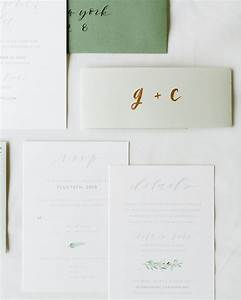 understated green calligraphy and fern wedding invitations With paper moss wedding invitations