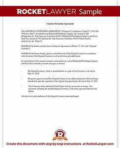 Contract Extension Letter Agreement with Template & Form
