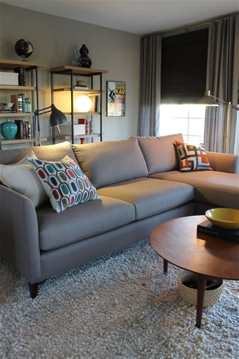 crate and barrel mid century sofa mid century modern style with crate and barrel sectional