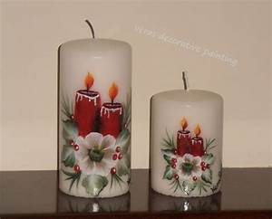 17 best images about hand painted candles on pinterest for What kind of paint to use on kitchen cabinets for candle wax holder