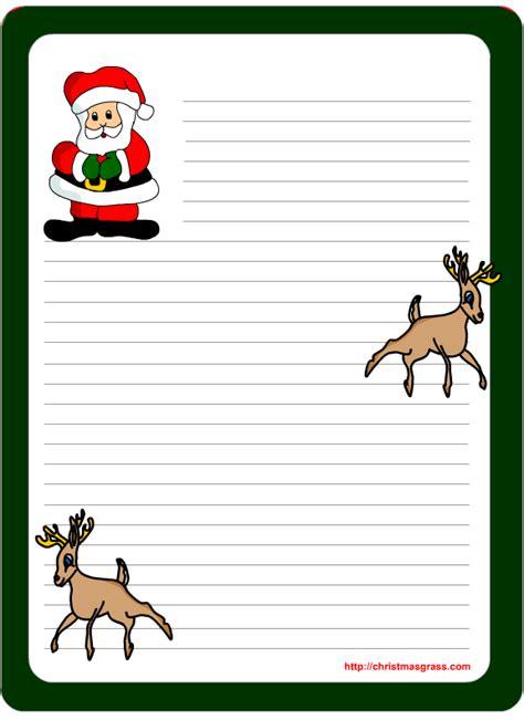 printable letter pad christmas stationery  santa