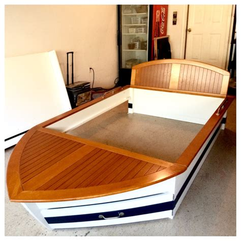 Pottery Barn Boat Bed by Letgo Boys Boat Bed W Trundle Drawers In Suwanee Ga
