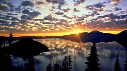 Lake Crater Oregon Desktop Wallpapers Sunrise Range