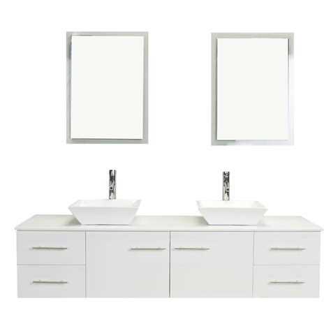 totti wave   white modern double sink bathroom