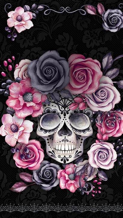 Skull Iphone Backgrounds Wallpapers Mermaid Sugar Phone
