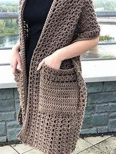 Pocket Shawl Crochet Pattern Boho Wrap With Pockets Easy