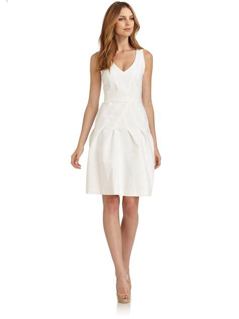 womens white dress lyst giorgio armani seamed dress in white