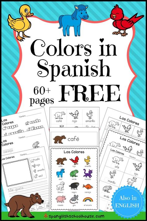spanish color printables  pages  color fun