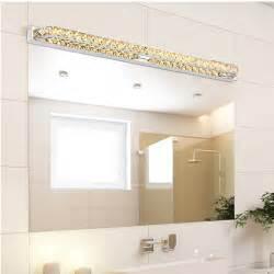 2015 modern led crystal bathroom mirror sconces light 23w