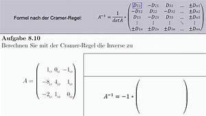 Inverse Berechnen Matrix : aufgabe lineare algebra cramer inverse matrix berechnen nach der cramer 39 schen regel ~ Themetempest.com Abrechnung