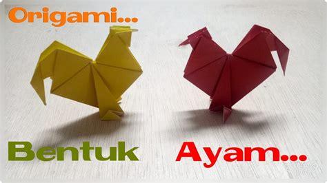membuat origami ayam youtube