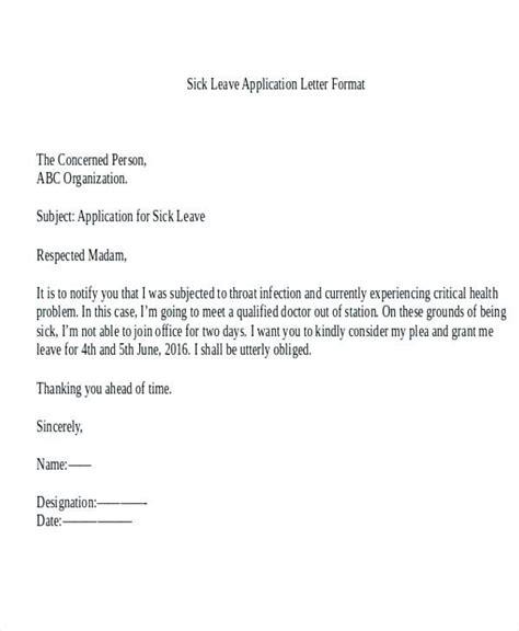 application  sick leave  school  parents  sick