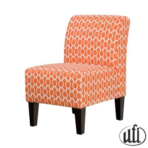 orange accent chair livingroom