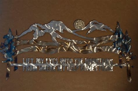 Mountain Scene Metal Wall Sculpture With From Steelwonders On