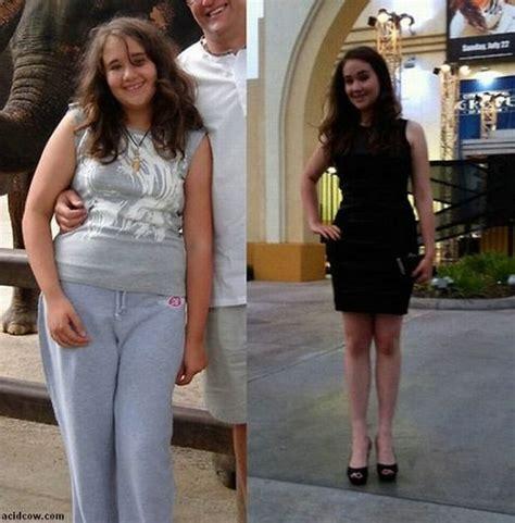 niezwykle metamorfozy zwyklych dziewczyn byly grube schudly  teraz sa piekne