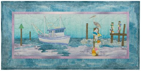 Fishing Boat Quilt by Mckenna Quilt Patterns And Kits