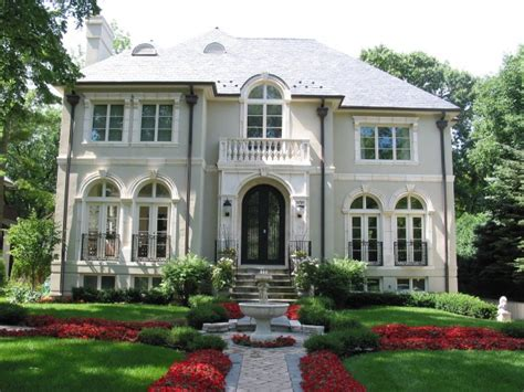 Stucco French Home With Balcony