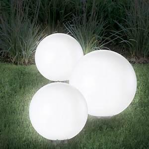 Lampe Boule à Poser : lampe boule 20 cm solaire design eclairage et d coration ~ Dailycaller-alerts.com Idées de Décoration