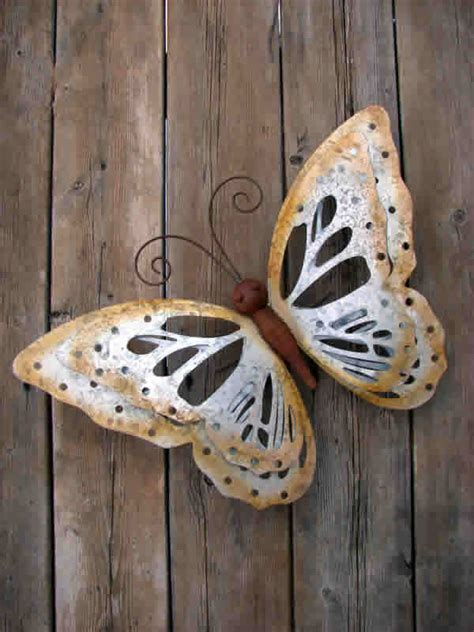 butterfly galvanized metal wall decor mondus distinction
