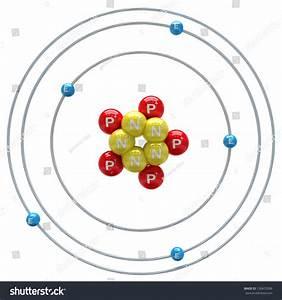 Boron Atom On White Background Stock Illustration