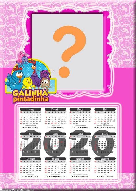 Foto Moldura Calendário 2020 Galinha Pintadinha Montagem