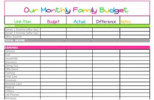 Household Budget Worksheet Excel Template Household Spreadsheet Templates Haisume
