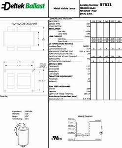 Metal Halide Ballast 400w Watt Multi 5 Tap 120v 208v 240v
