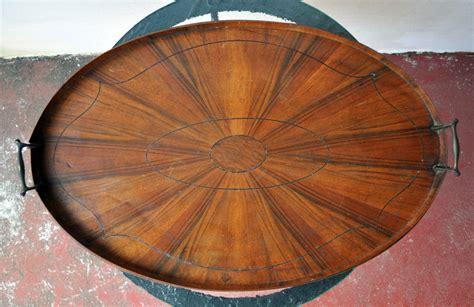antique wood tray antique vintage wooden serving tray large oval design 1302