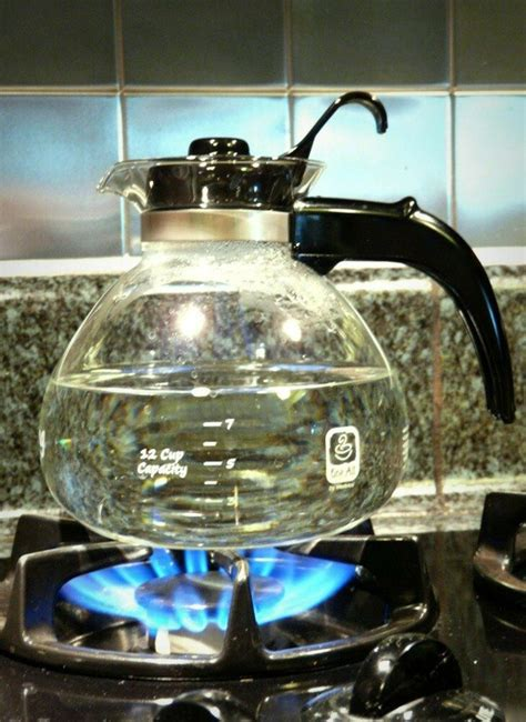 stove kettle glass whistling cup tea gas pot water modern coffee kitchen