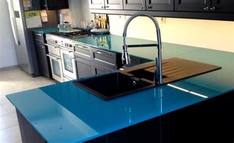 plan de travail cuisine en verre plan de travail en verre prix cuisine naturelle