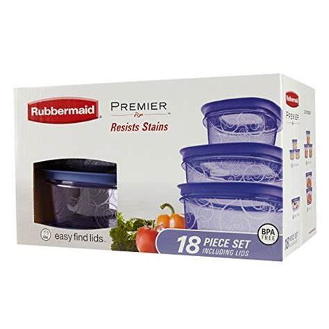 Rubbermaid Premier Easy Find Lids Food Storage Containers