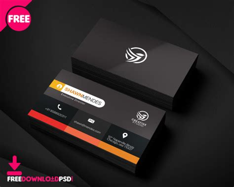 corporate business card template freedownloadpsdcom