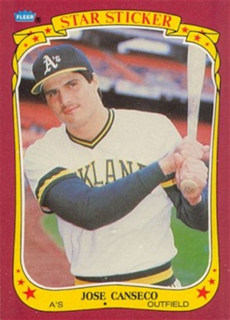 Born may 6, 1990) is a venezuelan professional baseball second baseman for the houston astros of major league baseball (mlb). 1986 Fleer Star Stickers Jose Canseco #19 Baseball Card Value Price Guide