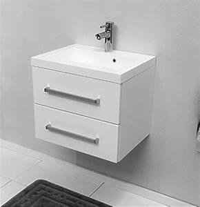 Waschbeckenunterschrank Mit Schubladen Günstig : quentis waschplatz genua 50 2 teilig wei 2 schubladen ~ Orissabook.com Haus und Dekorationen