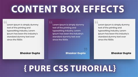 amezing content box hover effects  html css