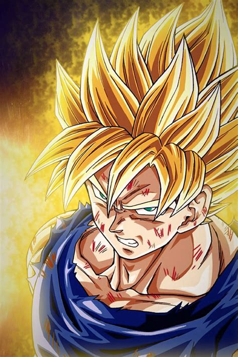 ball anime dragon goku saiyan super saiyan dessin