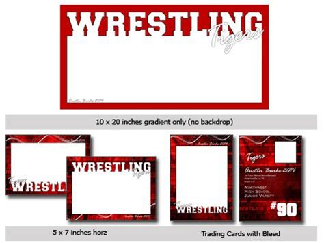 action sports wrestling cutout vol  template photoshop
