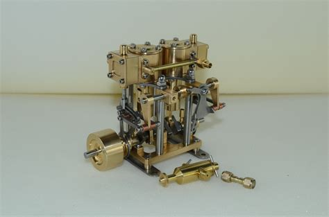 Double Cylinder Reciprocating Copper Steam Engine Model